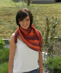 Schräges Tuch Madeira - am Mensch - Veronika Hug