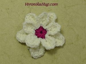 Tunesisch Häkeln - Blume - Häkelblume doppelt - Veronika Hug
